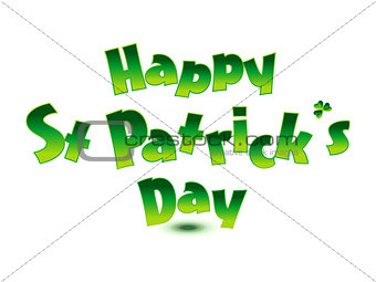 abstract st patrick text