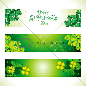 abstract st patrick web banner