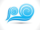 abstract wind wave icon
