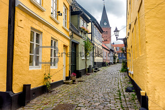 Aalborg, Denmark, narrow streets