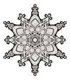 Arabic floral pattern motif