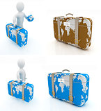 Suitcase for travel set