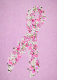 floral breast cancer awareness ribbon