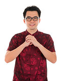 Chinese cheongsam male blessing