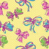 Bow seamless pattern