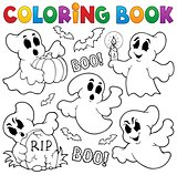 Coloring book ghost theme 1