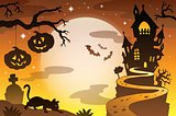 Halloween topic background 4