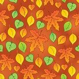 Leafy seamless background 3