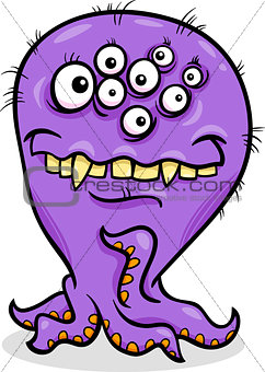 cartoon funny monster illustration