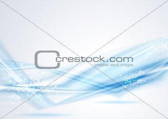 Bright blue vector tech template
