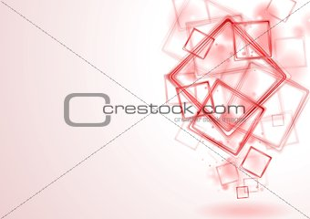 Bright red squares design