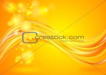 Bright yellow wavy background