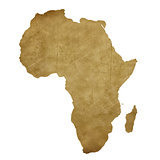 Africa grunge treasure map