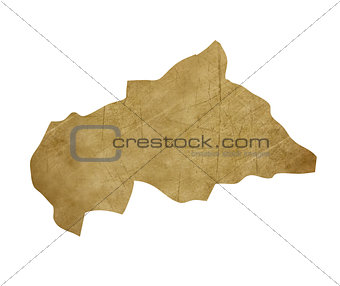 Central African Republic grunge treasure map