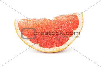 slice of ripe orange grapefruit