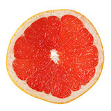slice of ripe orange grapefruit