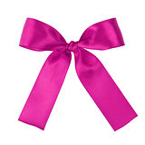 purple festive tied bow made from ribbon