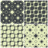 seamless patterns with squares, vector illustration
