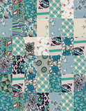 collection of quilt backgrounds - blue