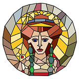 stained glass empress