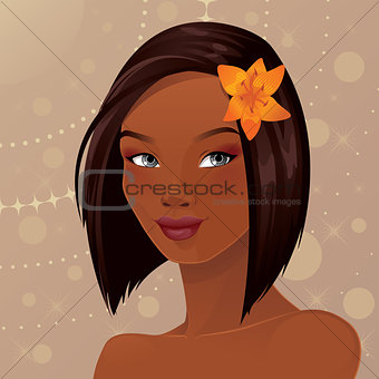 Beautiful African American Woman Portrait