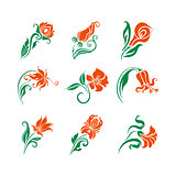 Vector set of  decorative elements for design.