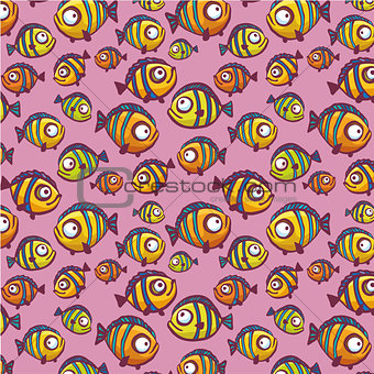 Seamless pattern with fish.