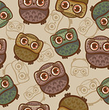 Cartoon pattern with owls.