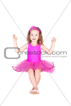 fashion little princess girl humor portrait