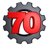 number and cogwheel
