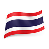 State flag of Thailand.