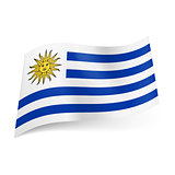 State flag of Uruguay.