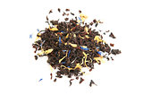black tea with dry flowers