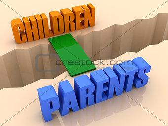 Два слова детей и родителей, Объединенной по мосту через разделение трещины