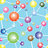 Molecule communication background vector illustration