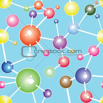 Molecule communication background vector illustration