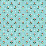 Floral baby wallpaper in retro style.