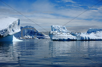 Antarctica, icebergs