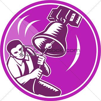 Businessman Ringing Liberty Bell