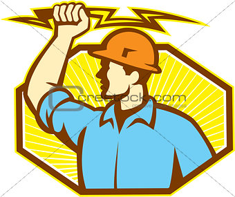 Electrician Wielding Lightning Bolt