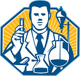 Scientist Lab Researcher Chemist Retro