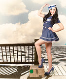 Vintage sailor girl. World tour travel cruise