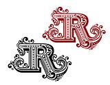 Vintage letter R