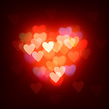 Blurred background with hearts, vector Eps10 image.