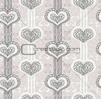 Abstract cute heart pattern