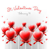 Valentine's Day card with lollipops, vector Eps10 image