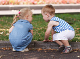 Little friends boy and girl