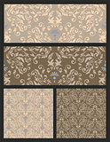 seamless pattern. damask. vector set