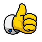 Cartoon Like/Thumbs Up symbol, vector Eps8 illustration.