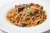 Spaghetti with Braised Lamb
